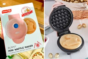 This Waffle Iron Makes Your Breakfast Bunny-Shaped—and It's EAR-RESISTABLE