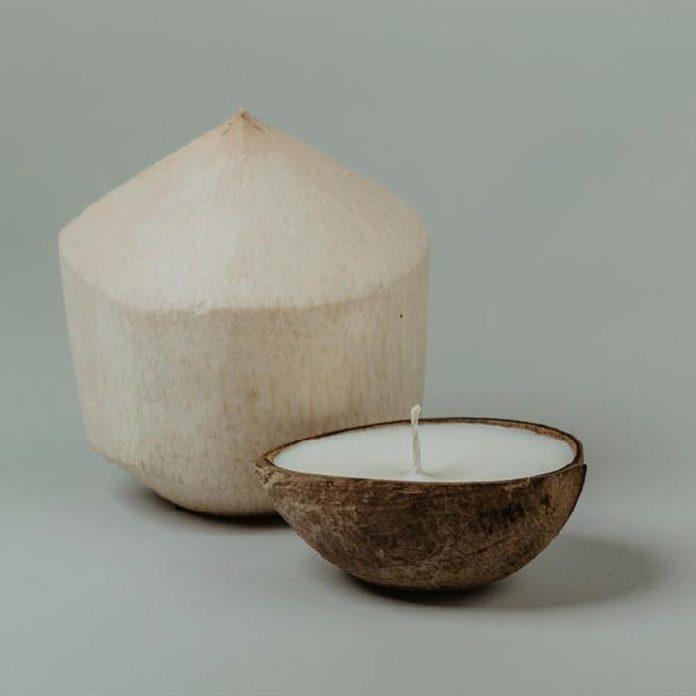 tropical kitchen decor Coconut Candle