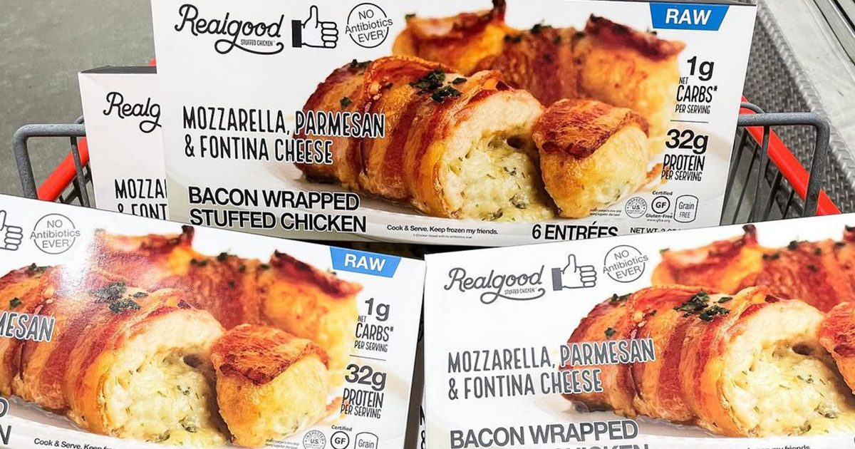 Costco Is NOW Selling Bacon-Wrapped Chicken—and It's STUFFED with Three Different Cheeses