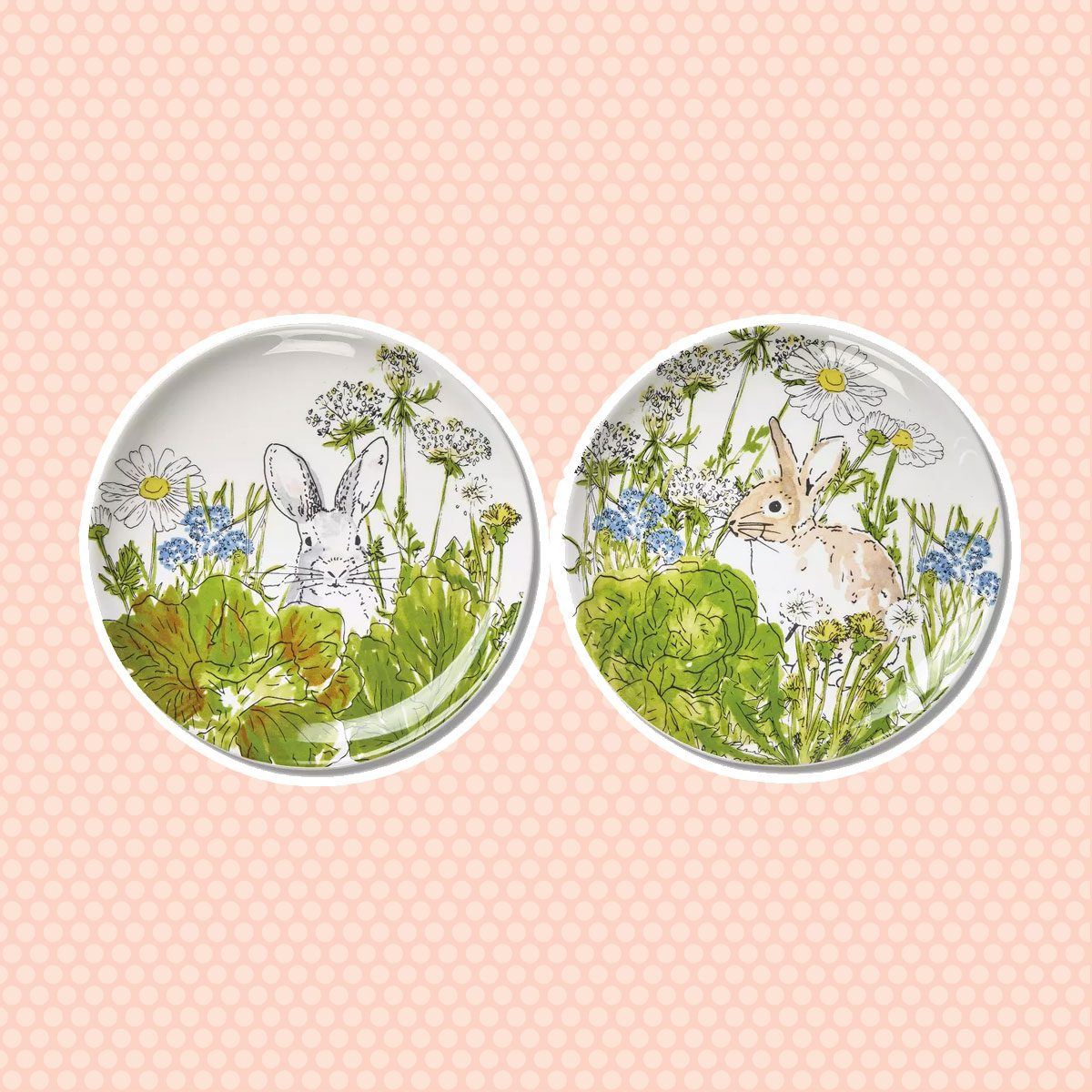vintage easter decorations Easter Bunny Spring Plates