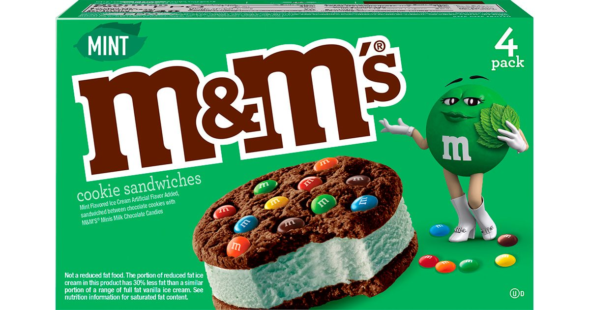 M&M's JUST Revealed Its Mint Ice Cream Sandwiches, and We're Filling Our Cart