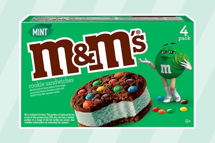 NEW M&M'S® Mint Ice Cream Cookie Sandwich