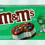 M&M's JUST Revealed Its Mint Ice Cream Cookie Sandwiches, and We're Filling Our Cart