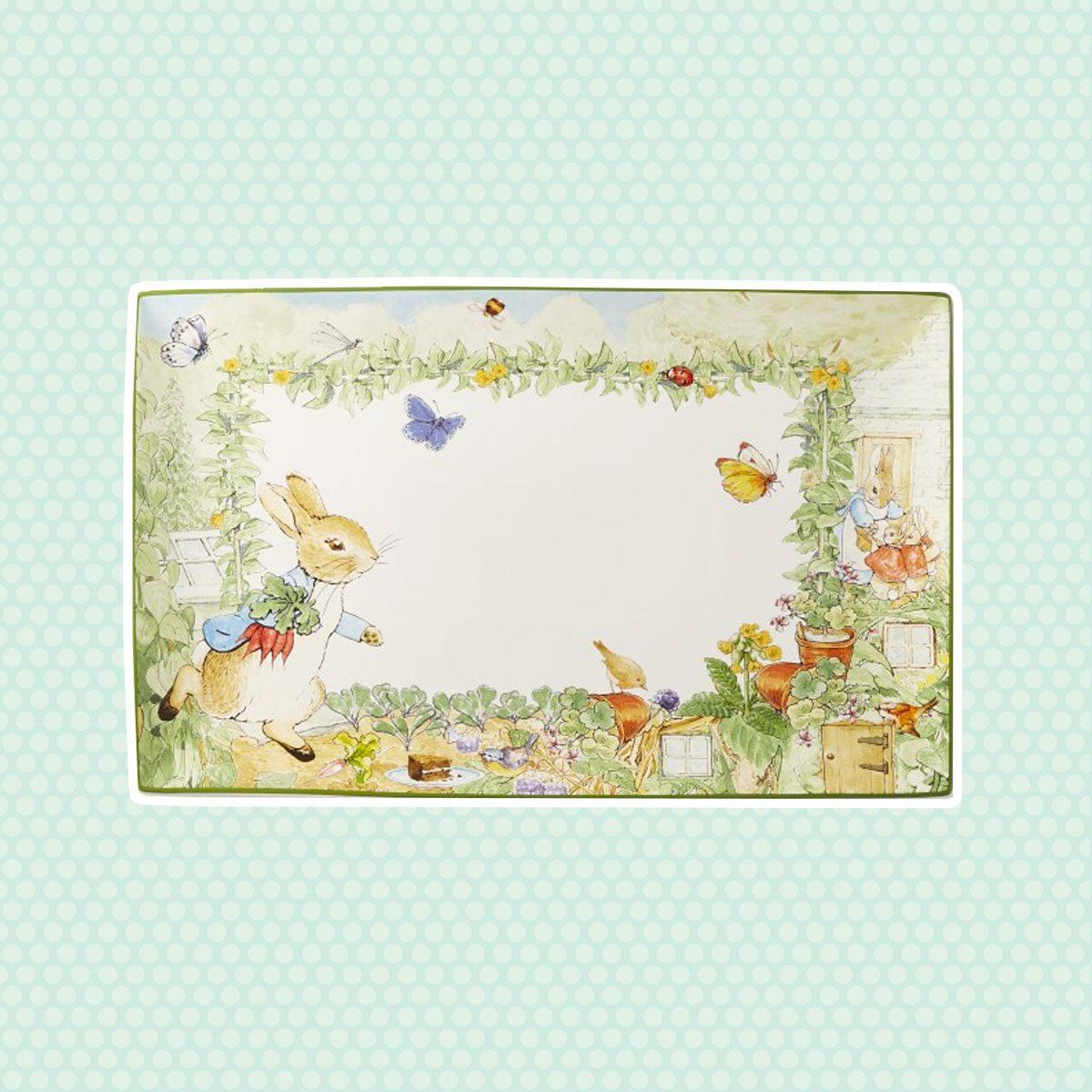 Peter Rabbit Platter vintage easter decorations