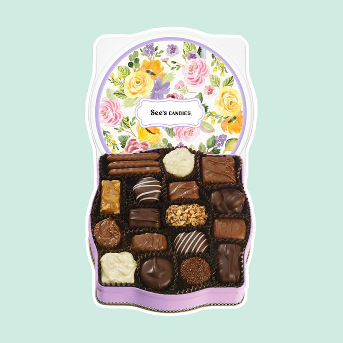 what to send mom for mother's day Sweet Bouquet Keepsake Tin 4584 Candy Box Alt1