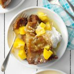Coconut-Mango Malva Pudding
