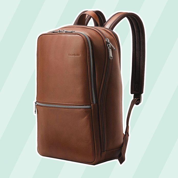 graduation gift ideas Leather Slim Backpack