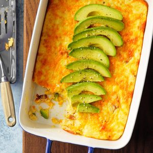 Cheesy Bacon and Grits Casserole