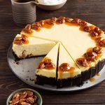 Chocolate Bourbon Pecan Cheesecake