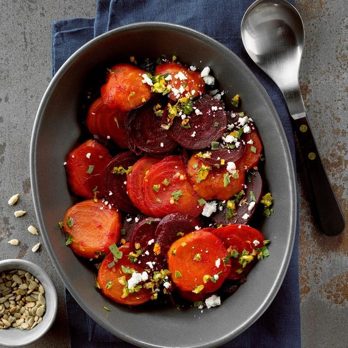 Air-Fryer Beets with Orange Gremolata and Goat Cheese