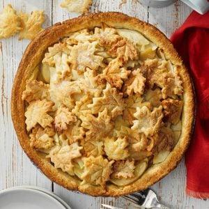 Maple and Cream Apple Pie