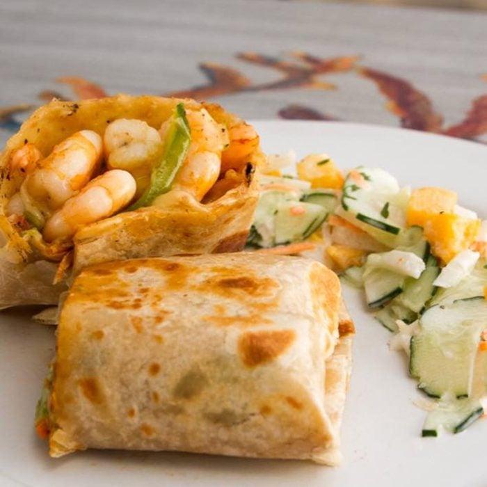 Seafood Burrito types of burritos