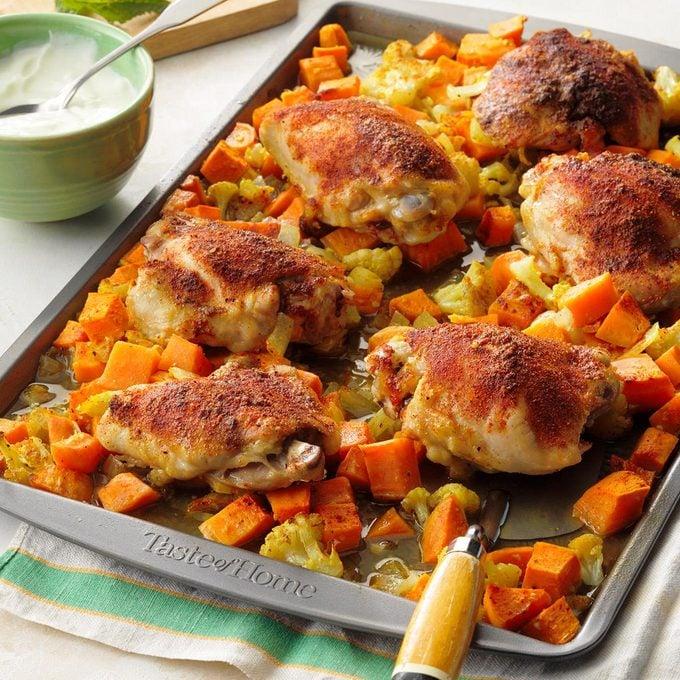 Sheet Pan Chicken Curry Dinner Exps Tohesodr21 205867 E02 17 4b