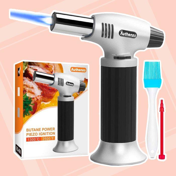 Kitchen Torch Authenzo Kitchen Butane Torch Lighter
