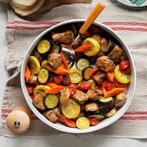 Kabobless Chicken and Vegetables