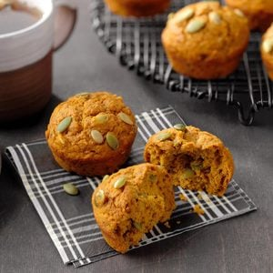 Maple-Chai Pumpkin Muffins