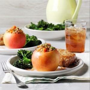 Savory Rice-Stuffed Apples