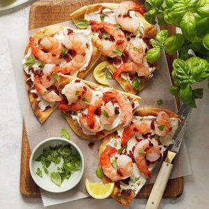 Speedy Shrimp Flatbreads