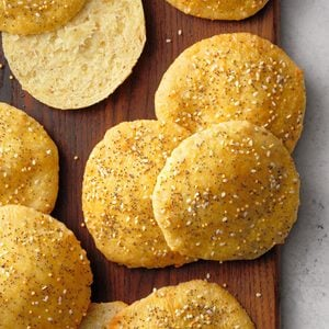 Triple Mustard and Gruyere Bread Thins
