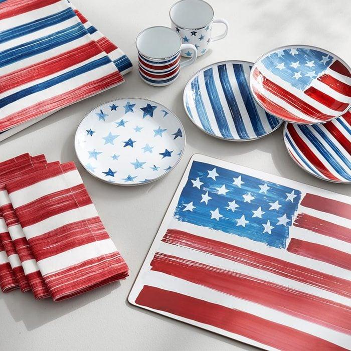 americana kitchen Americana Watercolor Dinnerware Collection Z