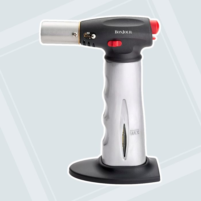 Bonjour Brushed Aluminum Chef S Torch With Fuel Gauge