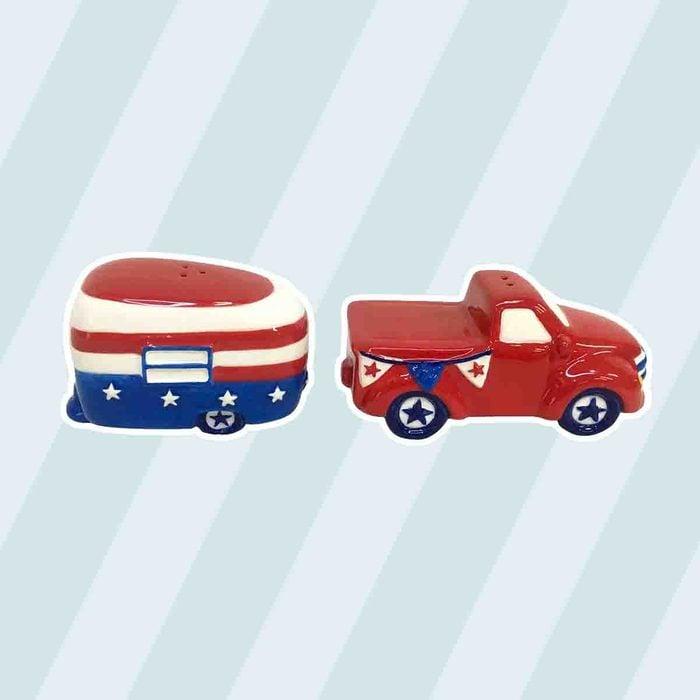 americana kitchen Celebrate Americana Together Truck Camper Salt Pepper Shaker Set