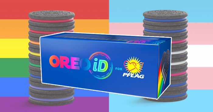 Stack of Rainbow Oreos for Pride Social 1200x630