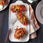 Air-Fryer Stuffed Sweet Potatoes