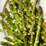 Chilled Asparagus with Basil Cream