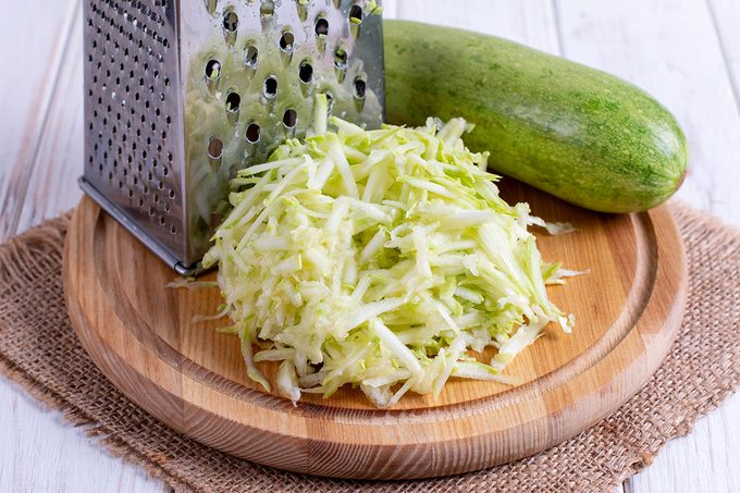 Grated Zucchini With Grater
