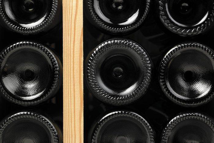 Wine Bottles In A Cellar
