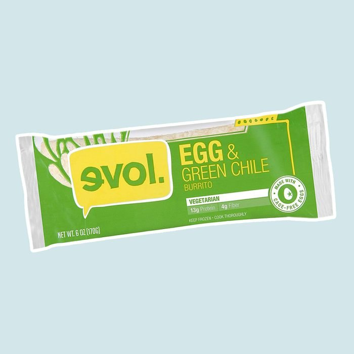 EVOL Egg and Green Chile Burrito, 13 Grams of Protein Per Serving, 6 Ounce (Frozen)