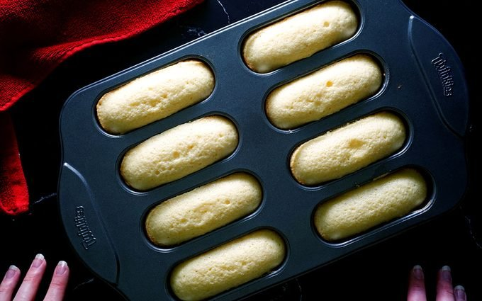 Remove and cool Homemade Twinkies recipe