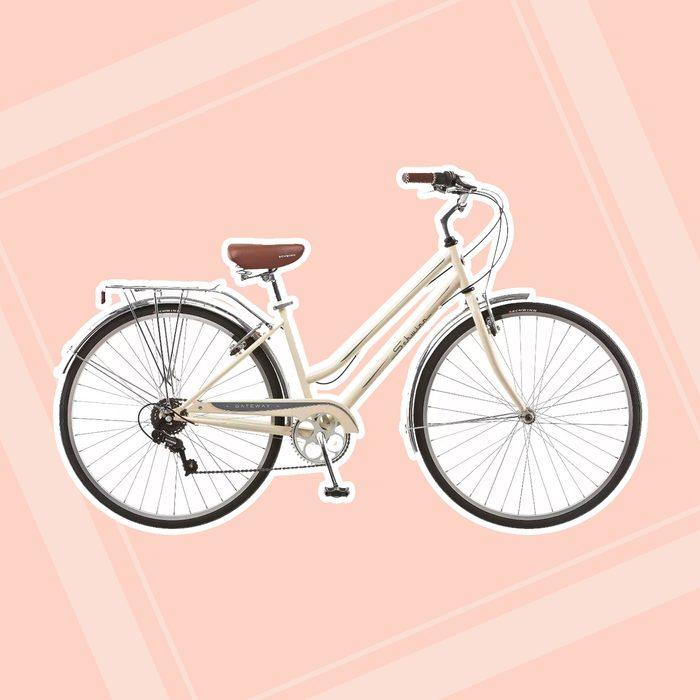 gifts for college students Schwinn Women 39 S Gateway 700c 28 34 Hybrid Bike Cream