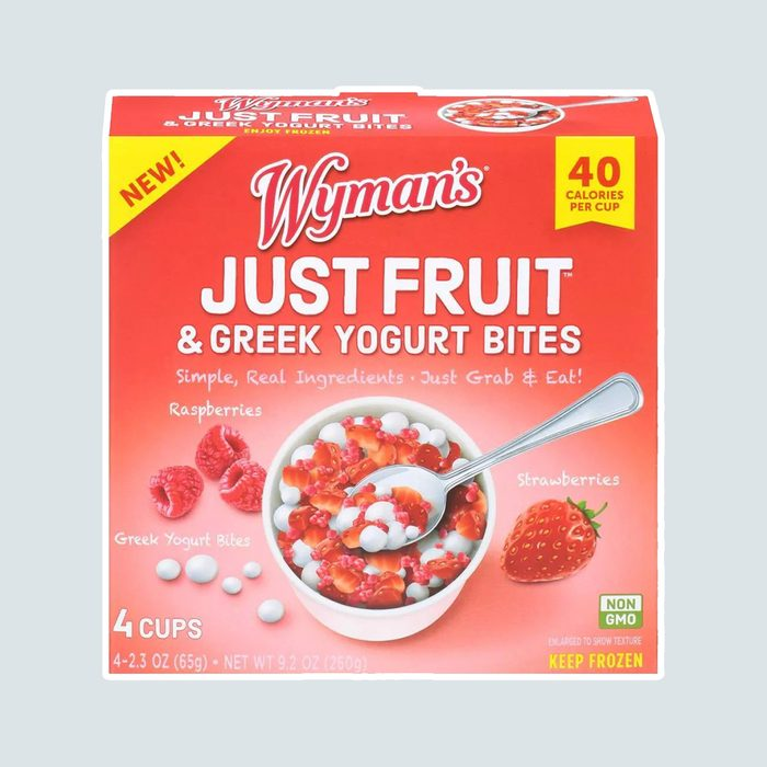 Wyman's Just Fruit Frozen Raspberries & Strawberries with Greek Yogurt Bites - 4ct/9.2oz