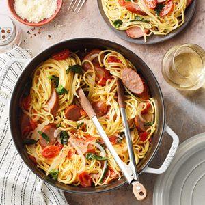 One-Pot Sausage and Basil Pasta