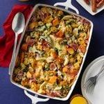 Prosciutto, Egg and Spinach Strata