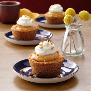 Pumpkin Latte Cheesecake Tarts