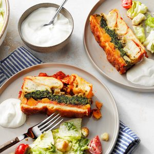 Squash and Spinach Pierogi Casserole
