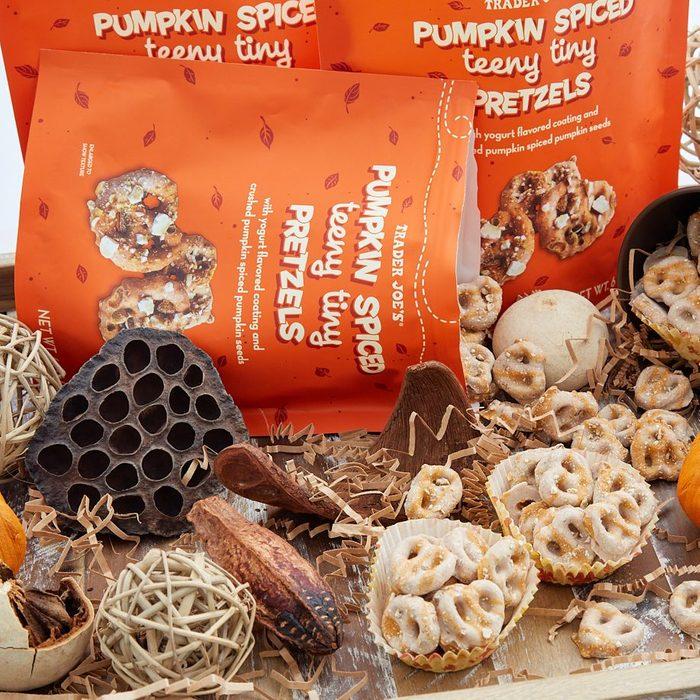 Trader Joe's Pumpkin Spiced Teeny Tiny Pretzels