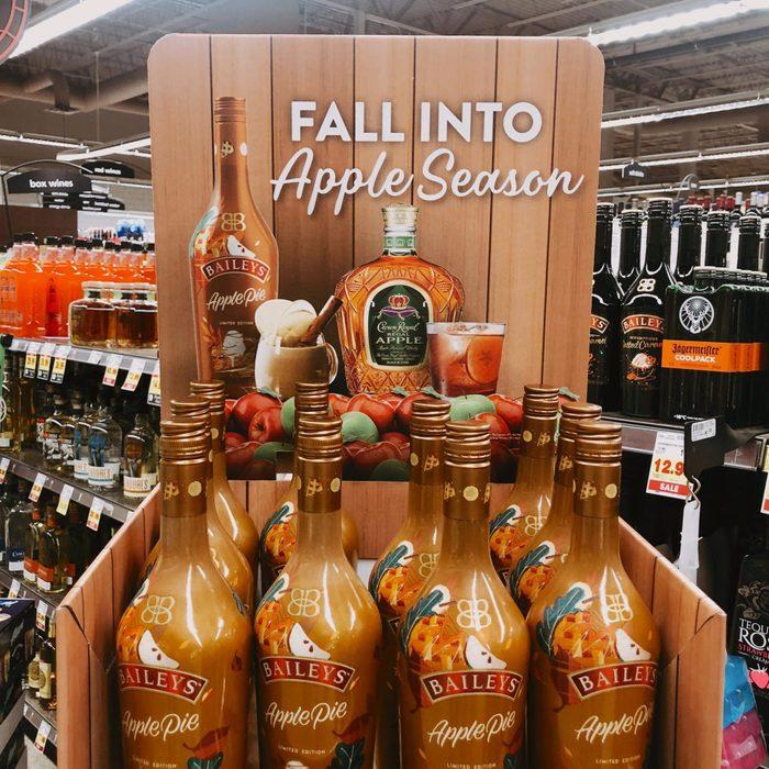 Baileys Apple Pie Bottles in liquor store