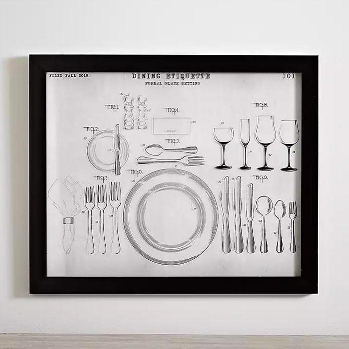 Dining Etiquette Framed Art Print