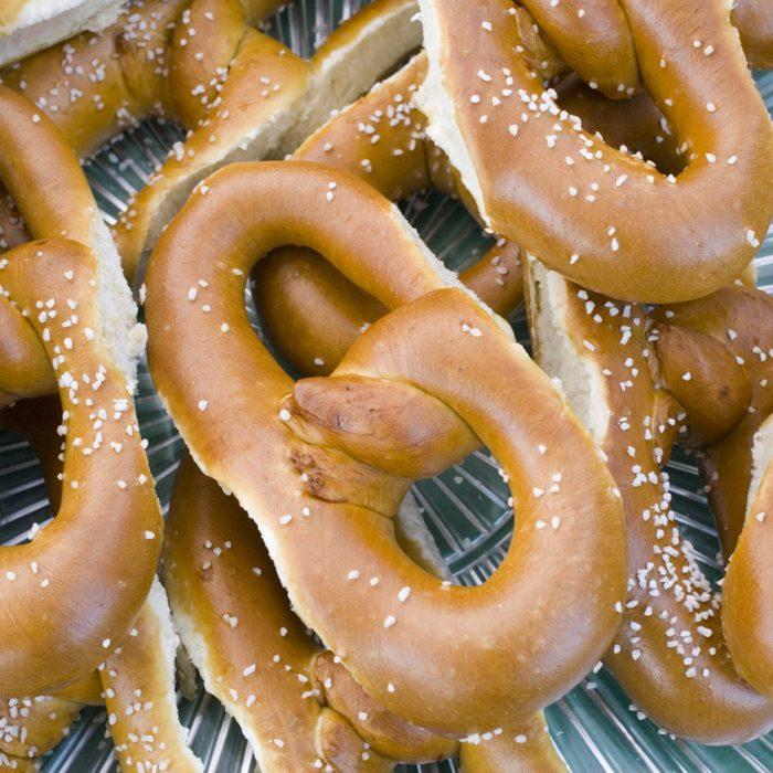 figure-eight shaped philadelphia soft pretzels
