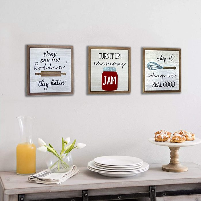 Homirable Kitchen Wall Décor, Whip It Real Good