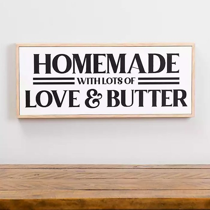 Homemade With Love And Butter Wall Plaque