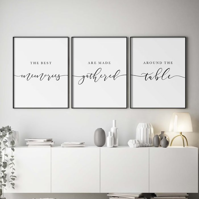 Kitchen Prints The Best Memories Are Made Gathered Around The Table