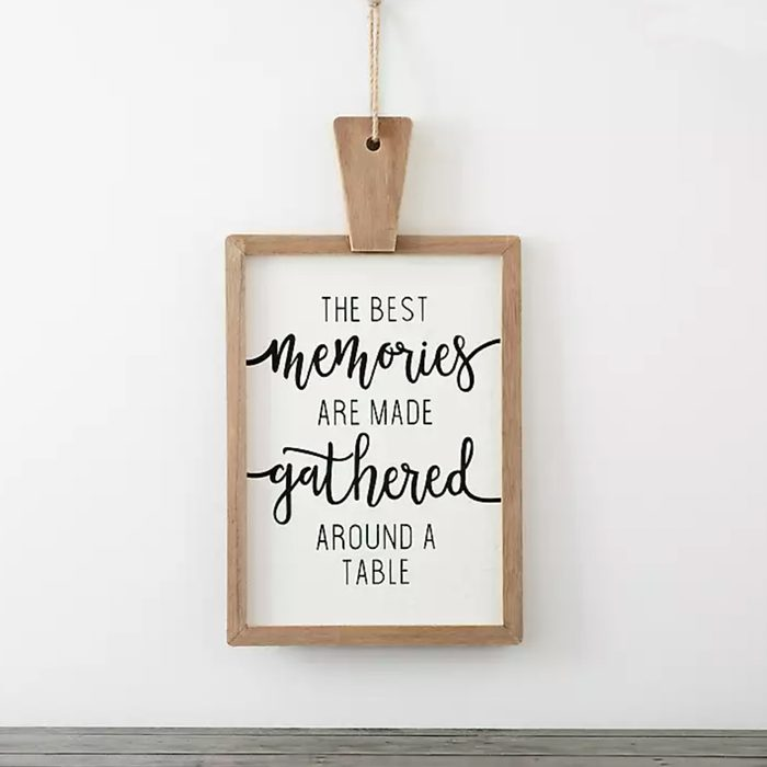 Memories Around A Table Cutting Board Wall Plaque