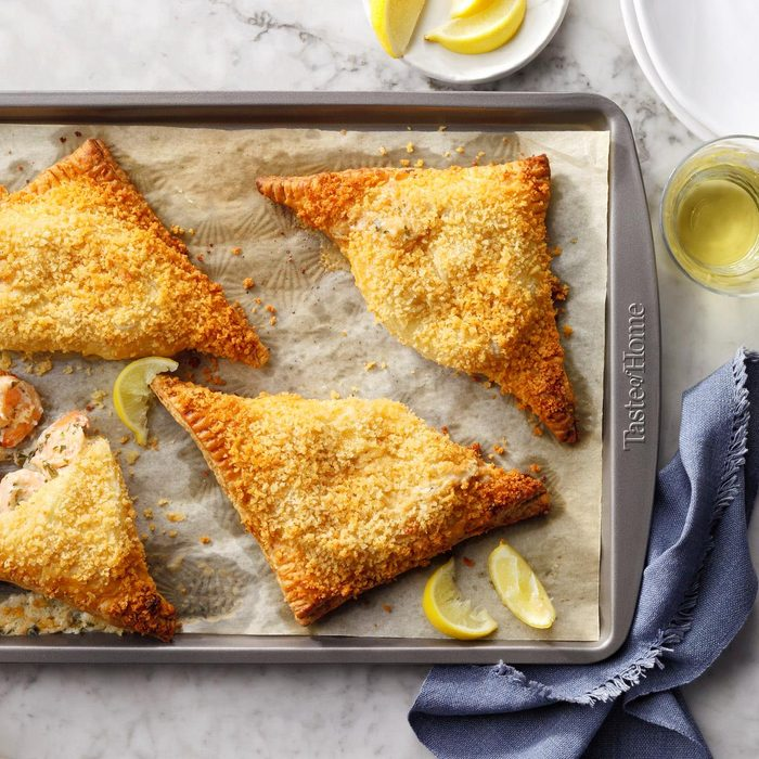 Shrimp Puff Pastry Triangles