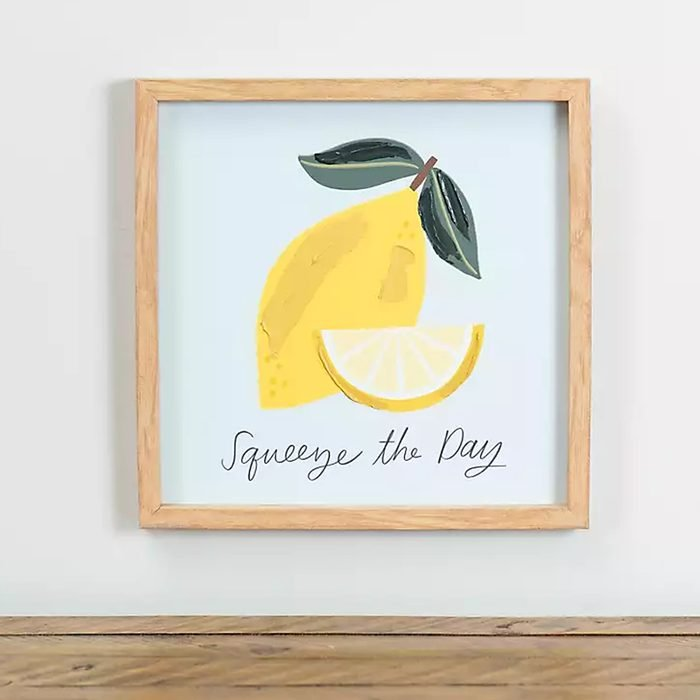 Squeeze The Day Wall Plaque