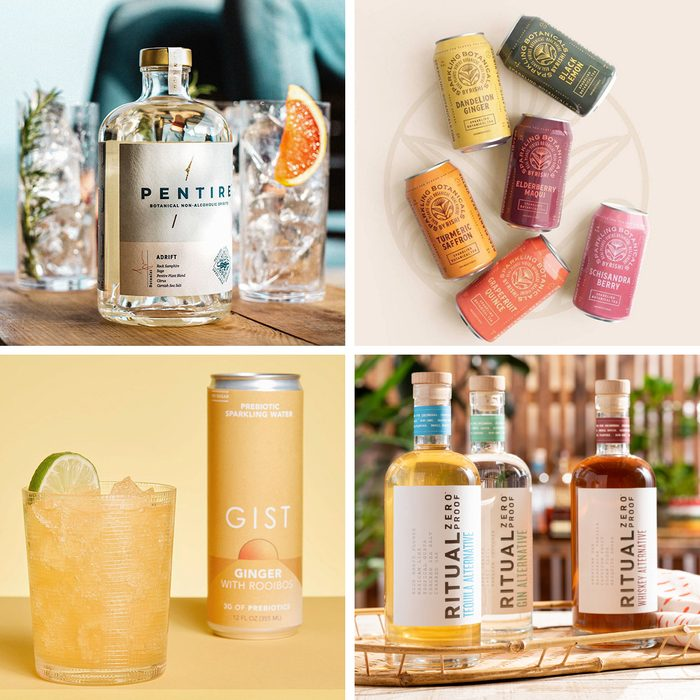 Best Non Alcoholic Drinks And Spirits 2021 grid collage